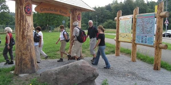 Wanderstart am Portal Gernsbacher Murgleiter