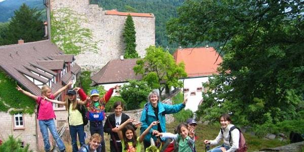 Aussichtsfelsen bei Schloss Eberstein