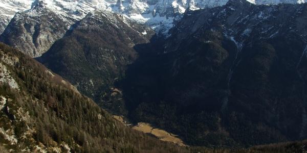 Trenta Valley below