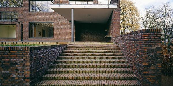 Museum Haus Lange, Krefeld: Treppe zum Garten