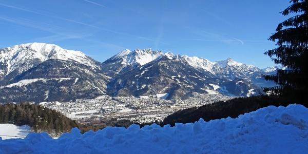 Blick vom Außerberg hinunter nach Bludenz