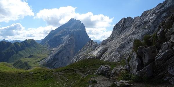 Blick vom Verajoch hinunter Richtung Schweizer Tor