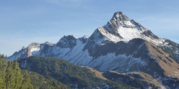 Blick auf den Biberkopf, Deutschlands südlichsten Gipfel