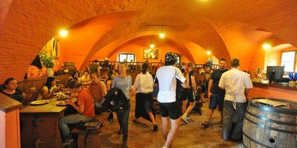 Pivovarská restaurace v pivovaru Dalešice