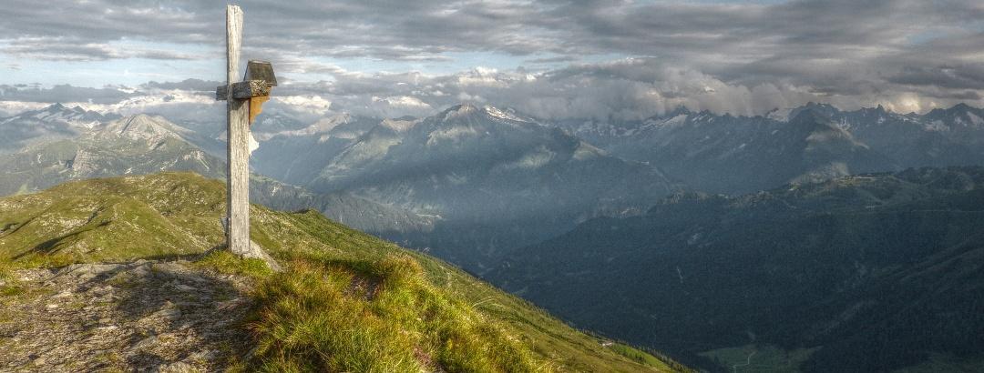 Von den vielen Kreuzjöchern Tirols is dieses hier Ziel unserer Wanderung