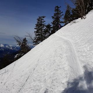 Auf 1600 m mit Blick nach Südwesten: Sonntagshorn