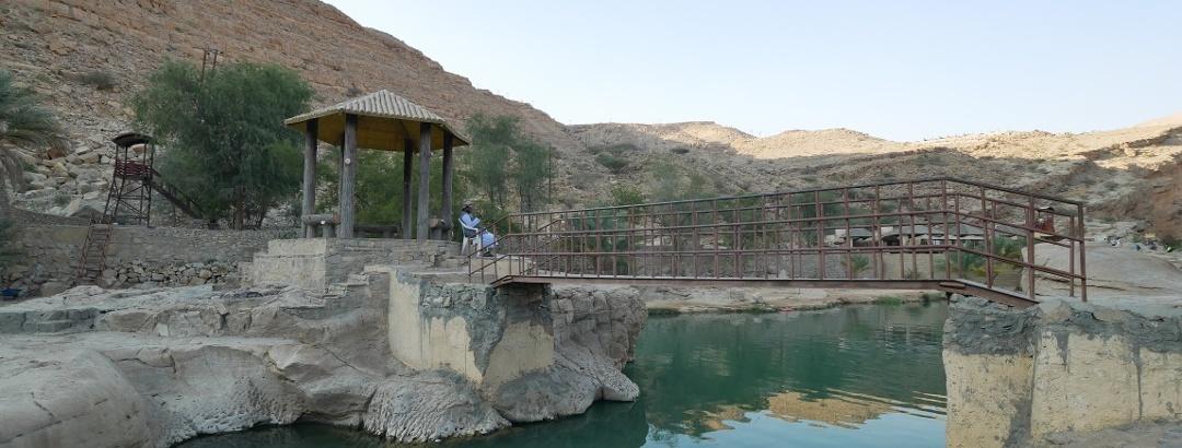 Poolanlage im Wadi Bani Khalid