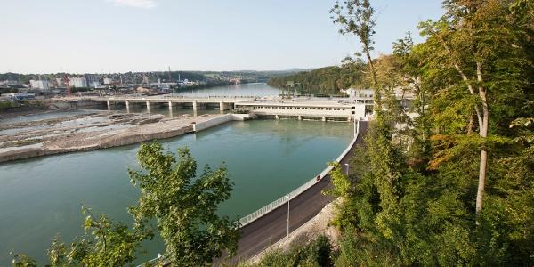 Aussicht auf das Wasserkraftwerk