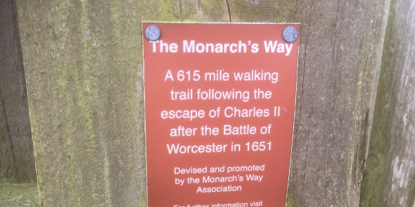 Monarch's Way plaque