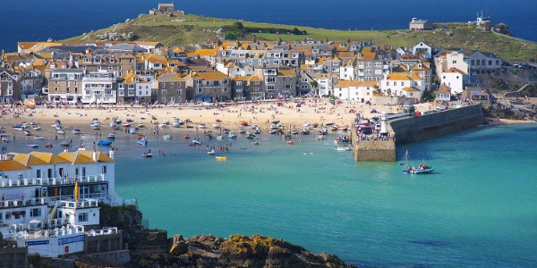 St Ives, a bustling fishing town