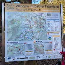 Karte am Einstiegspunkt