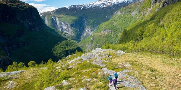 Hiking in Aurlandsdalen Valley