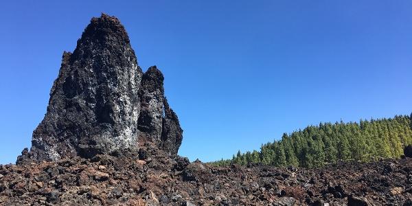 Crossing lava fields.