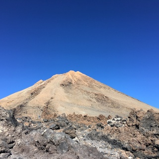 The summit crater of Teide.