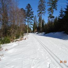 Unser Wanderweg im Winter