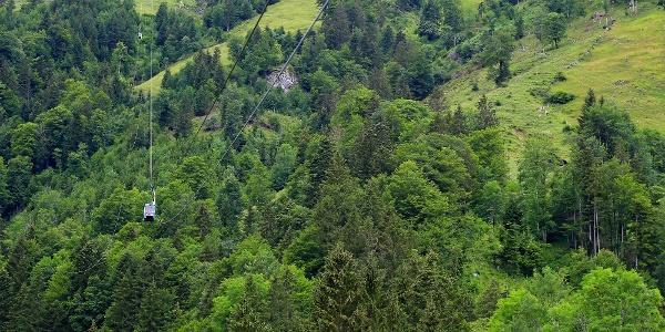Seilbahn Diegisbalm–Oberalp.