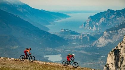 Lake to Lake - view on Lake Garda from Cima Paganella