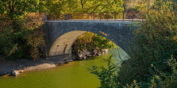 Wandern in Robertville - Brücke bei Outrewarche