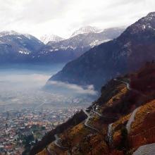 Sicht von Pianazzola im Herbst