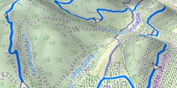 3D der Tour aus 3D Maps pro