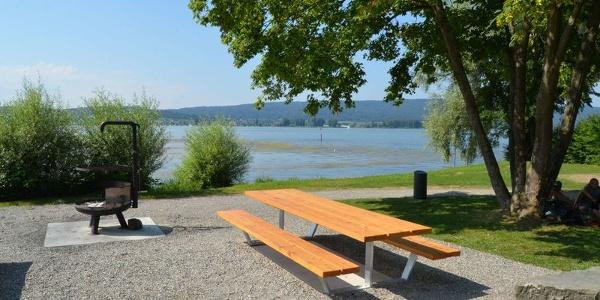 Grillstelle an der Seepromenade