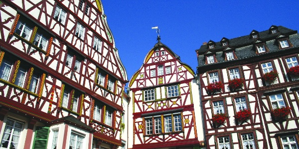 Half-timbered houses in Bernkastel-Kues