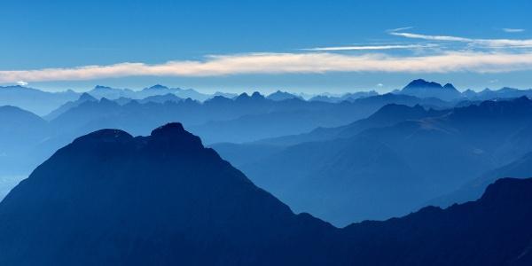 Gipfelpanorame im Werdenfelser Land