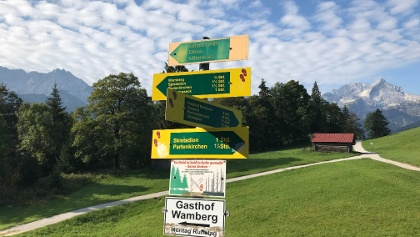 Typical signage along the route