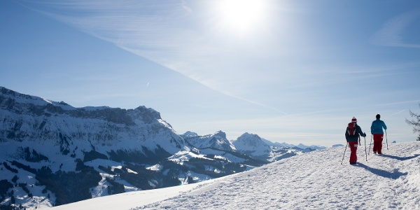 Winterwanderung zum Grenzstein Gassenegg