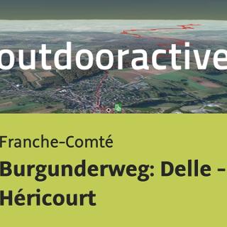 Pilgerweg in Franche-Comté: Burgunderweg: Delle - Héricourt