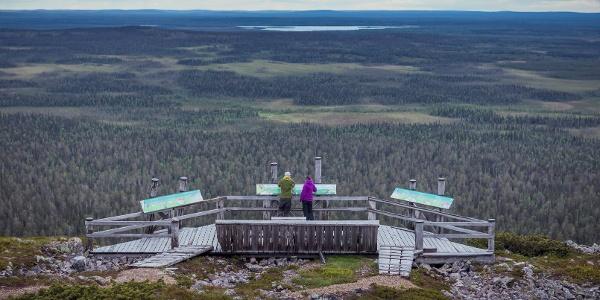 Ukko-Luoston näköalatasanteella.