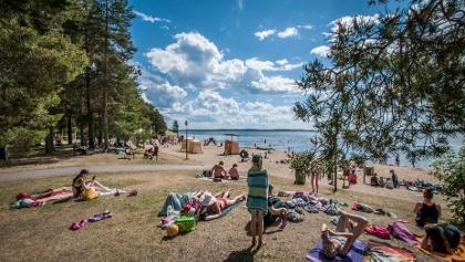 Hiukka beach Sotkamo Vuokatti Finland