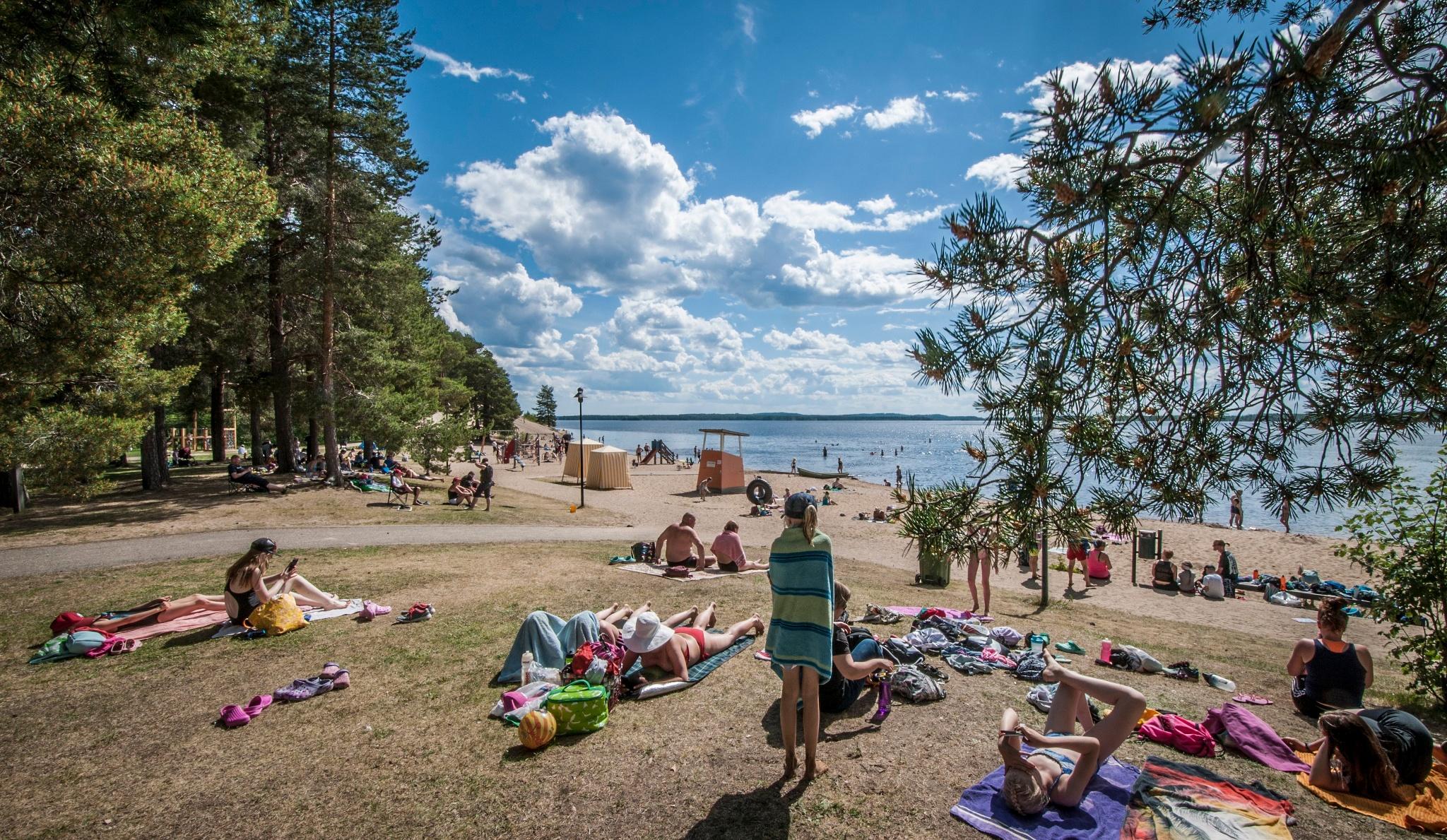 Hiukan Uimaranta Sotkamo Vuokatti Finland Ranta Outdooractive Com