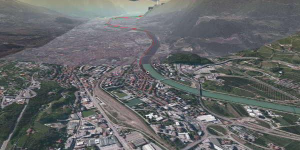 Radtour in Trento, Monte Bondone, Valle dell'Adige: Rad: Trient - Lago di Cei - Riva