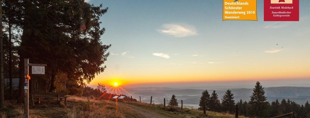 Ausblick vom Kalied am Medebacher Bergweg