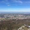 Blick vom Melibokus in die Rheinebene
