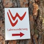 Mit dem roten LW unterwegs auf dem Lahnwanderweg