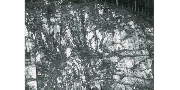Kluftnetz im Albtalgranit bei Schlagsäge
