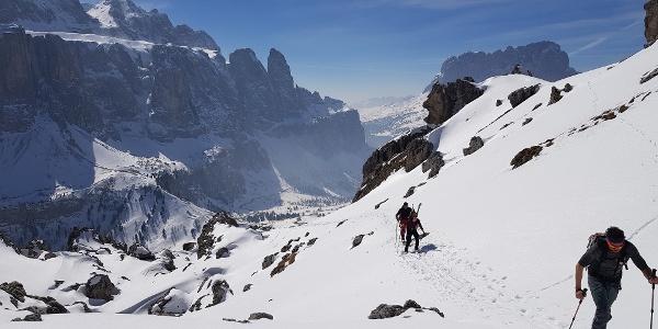 Aufstieg von der Jimmyhütte Richtung Cirscharte