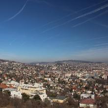 Kilátás a Sas-hegyi kilátópontról.