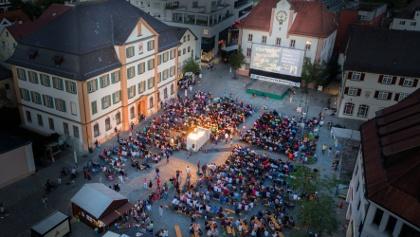 Open Air Filmfestival auf dem Marktplatz