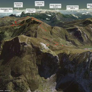 hiking trail in Carnia: KARNISCHER HOHENWEG STAGE EIGHT