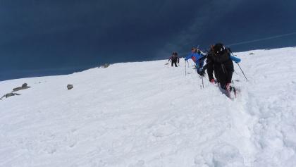 Gipfelanstieg ab Skidepot