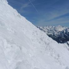 Steilheit des Gipfelhanges