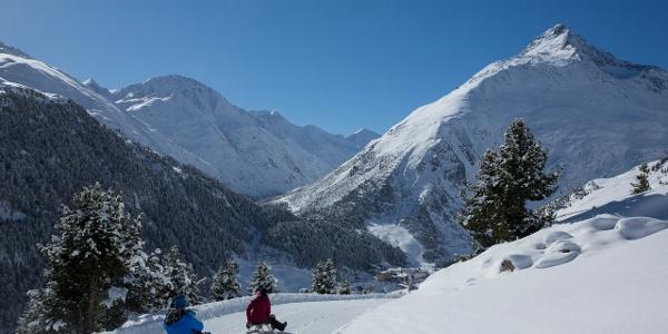 Das Ziel ist bald erreicht - Abfahrt ins Bergsteigerdorf Vent