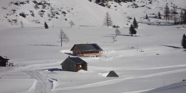 Gindlhütte, Blick Richtung Schneiderkogel