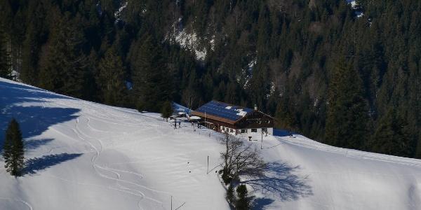 Winterliche Oberstiegalpe