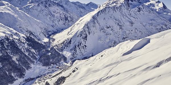 Bergsteigerdorf Vent - aus der Vogelperspektive