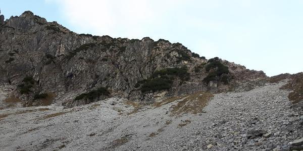 Beginn des Rubihorn Ostgrat