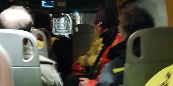 2018, im Bus